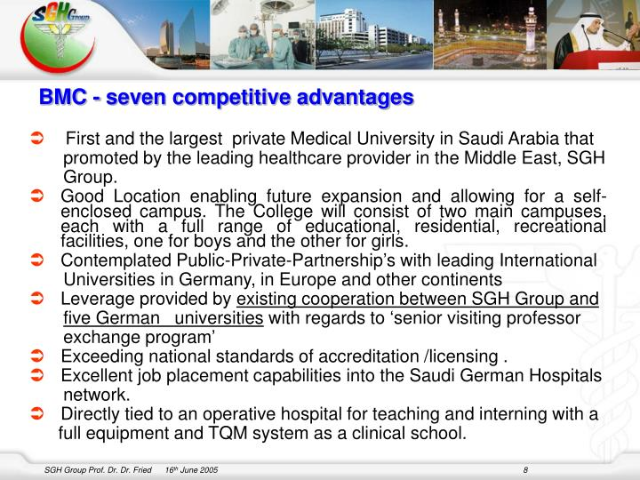 BMC - seven competitive advantages