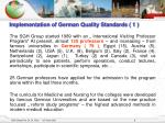 implementation of german quality standards 1
