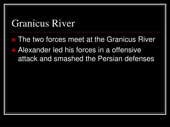 Granicus River