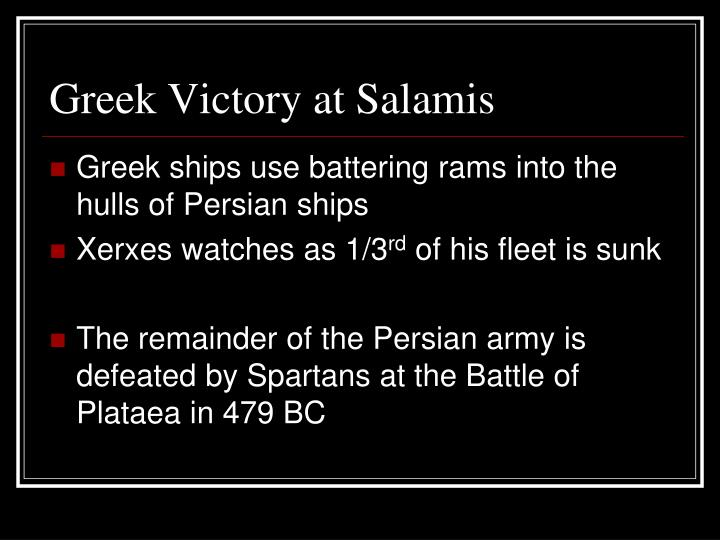 Greek Victory at Salamis