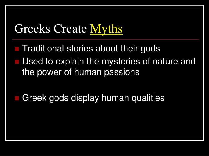Greeks Create