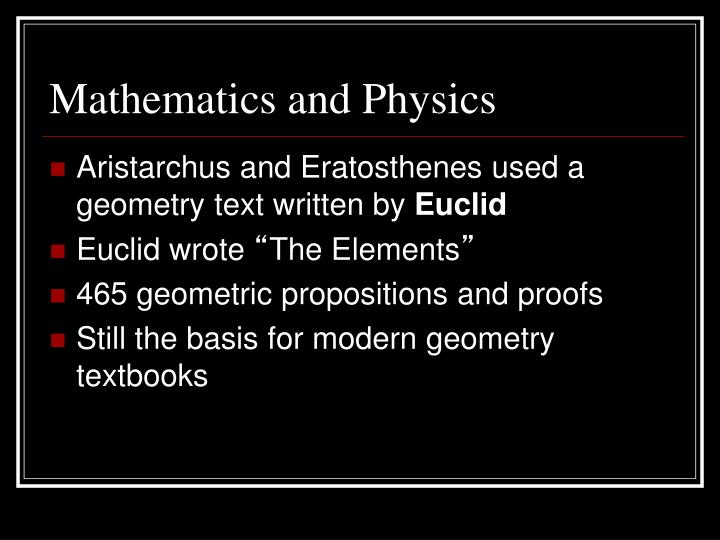 Mathematics and Physics