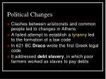 political changes