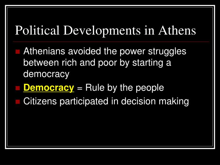 Political Developments in Athens