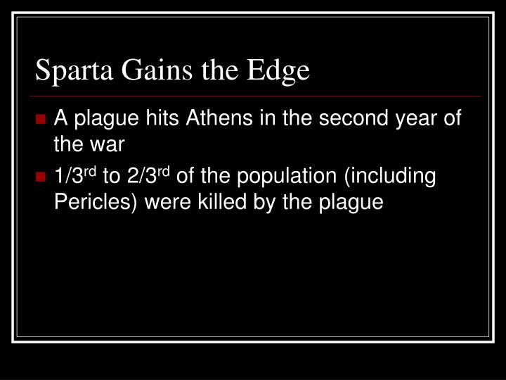 Sparta Gains the Edge