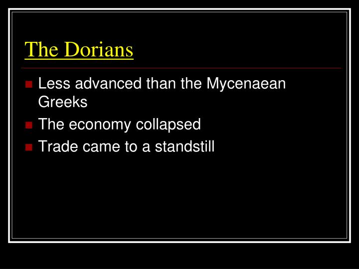 The Dorians