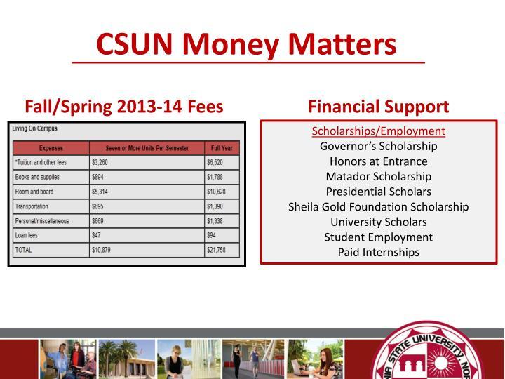 CSUN Money Matters