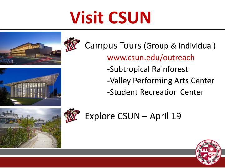 Visit CSUN