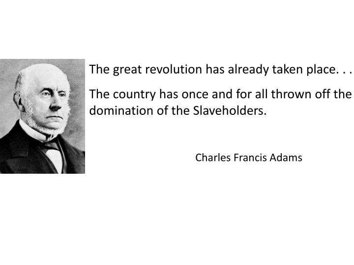 The great revolution has already taken place. . .