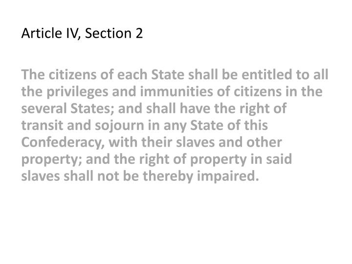 Article IV, Section 2