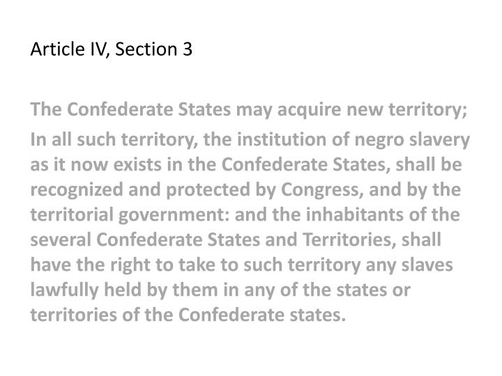 Article IV, Section 3