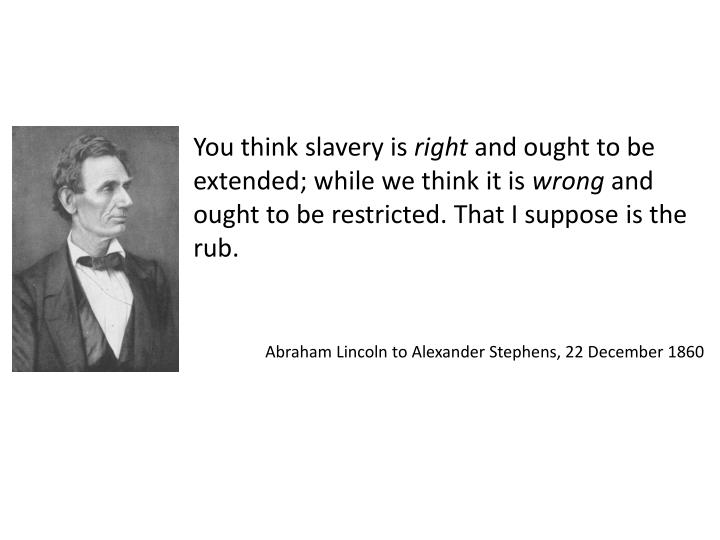 You think slavery is