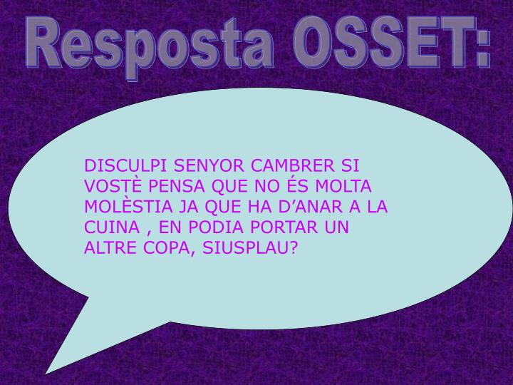 Resposta OSSET: