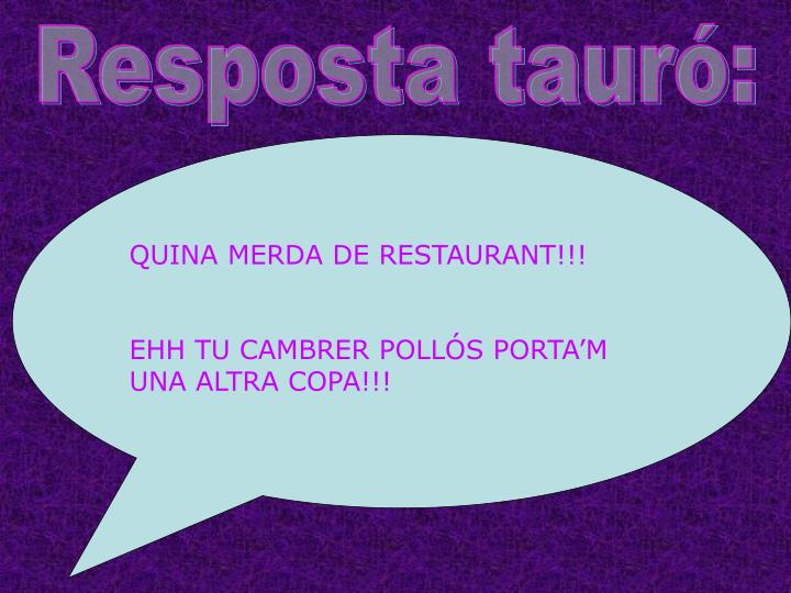 Resposta tauró: