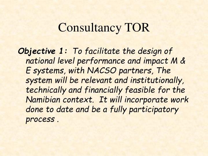 Consultancy TOR