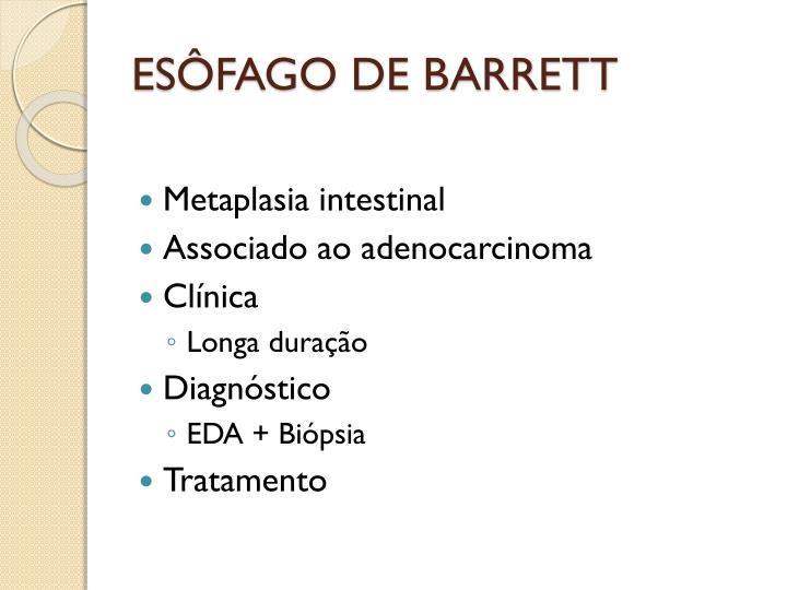 ESÔFAGO DE BARRETT
