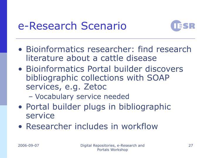 e-Research Scenario