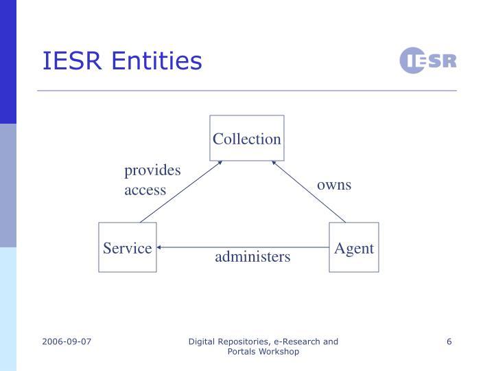 IESR Entities