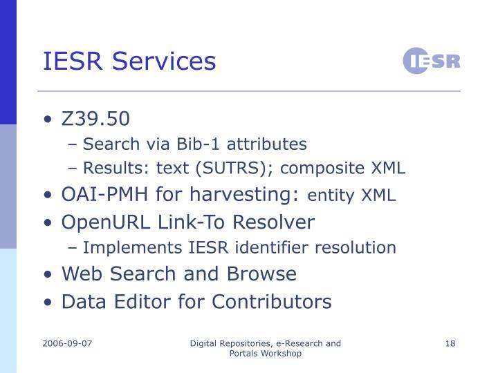 IESR Services