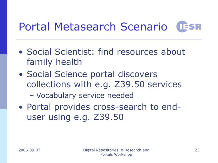 Portal Metasearch Scenario