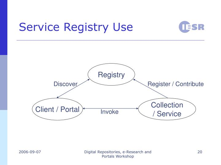 Service Registry Use