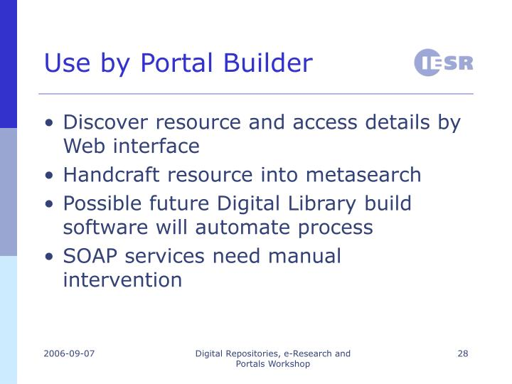 Use by Portal Builder