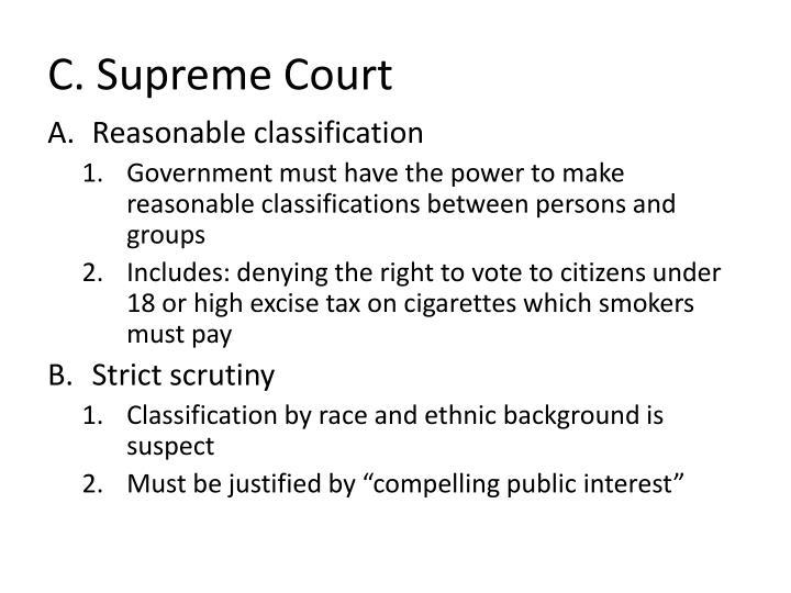 C. Supreme Court