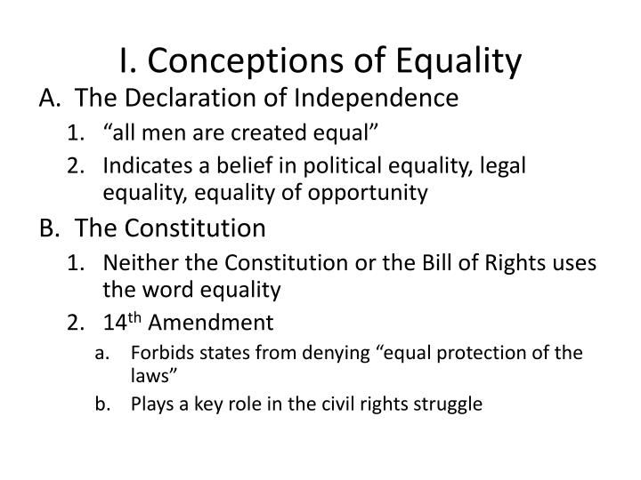 I conceptions of equality