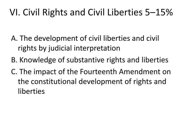 Vi civil rights and civil liberties 5 15
