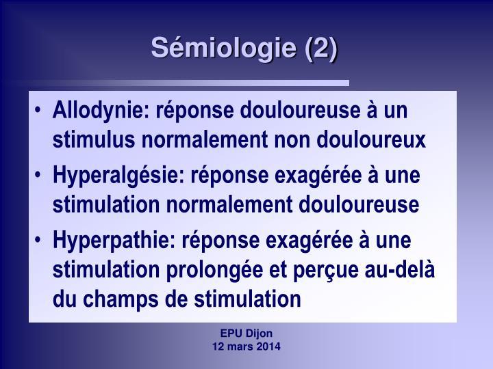 Sémiologie (2)