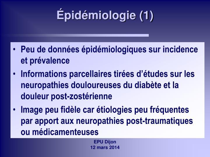 Épidémiologie (1)