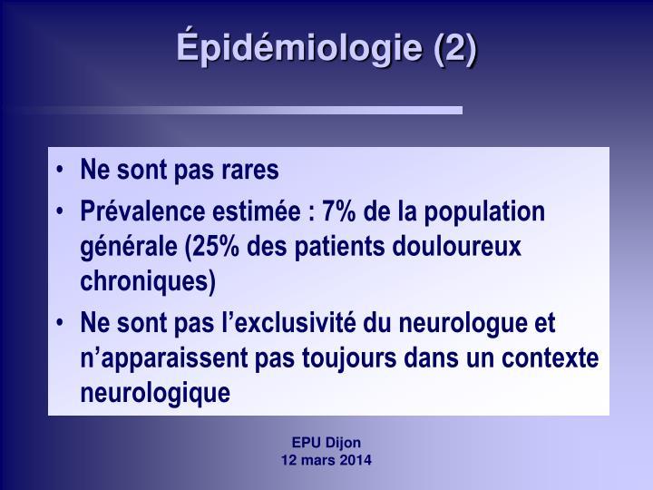 Épidémiologie (2)