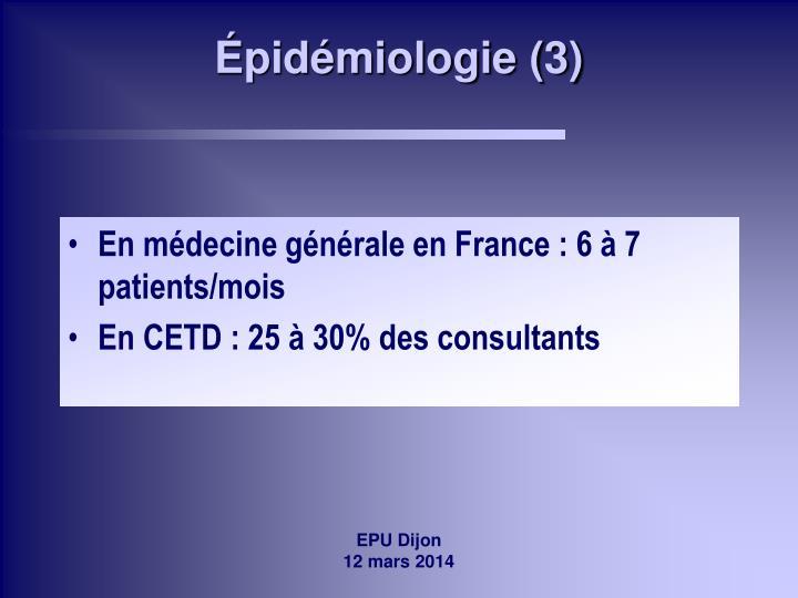 Épidémiologie (3)