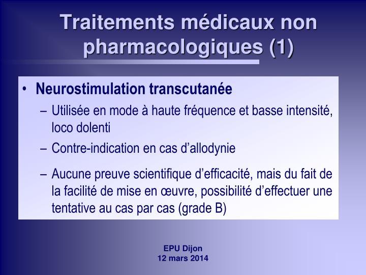Traitements médicaux non pharmacologiques (1)