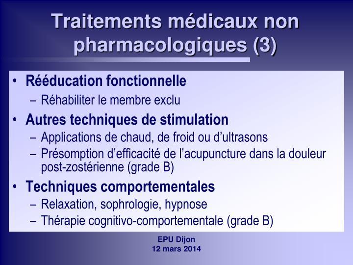 Traitements médicaux non