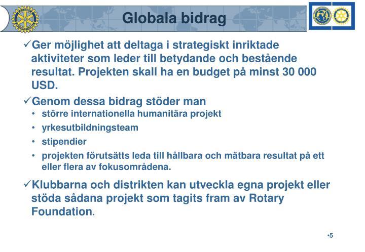 Globala bidrag