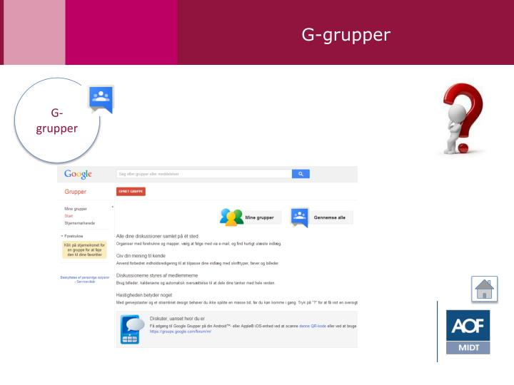 G-grupper