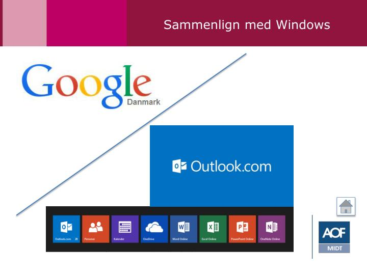 Sammenlign med Windows