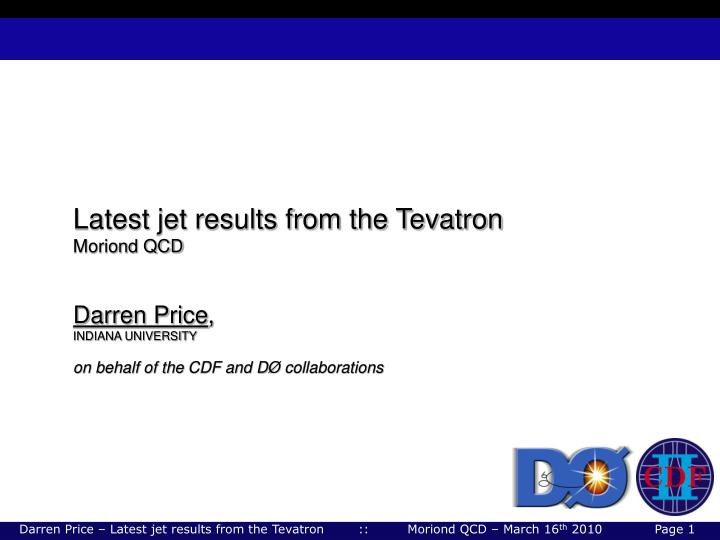 Latest jet results from the Tevatron