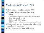 mode assist control ac