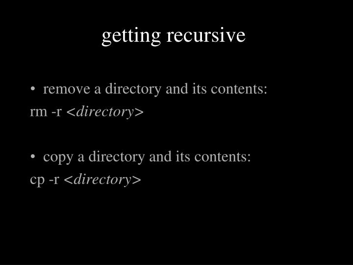 getting recursive