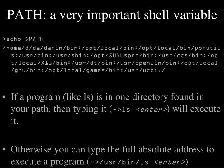 PATH: a very important shell variable