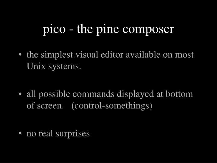 pico - the pine composer