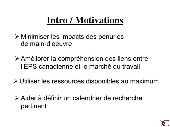 Intro / Motivations