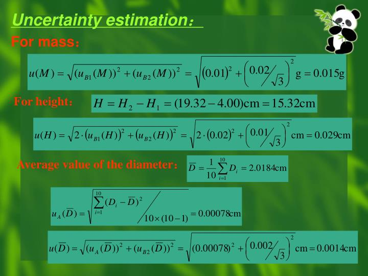 Uncertainty estimation