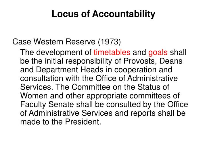 Locus of Accountability
