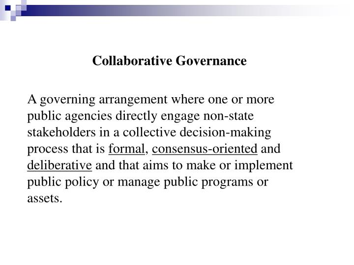 Collaborative Governance