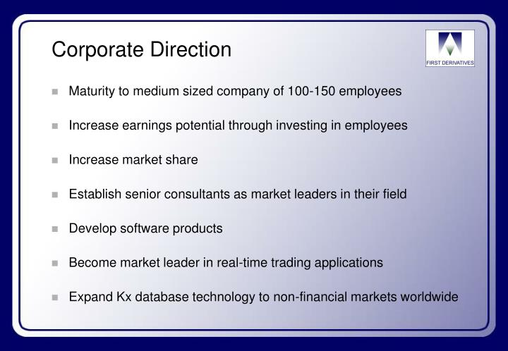 Corporate Direction