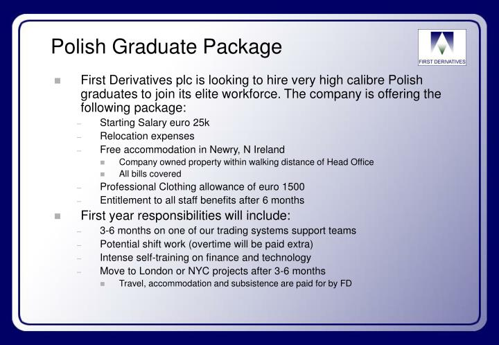Polish graduate package