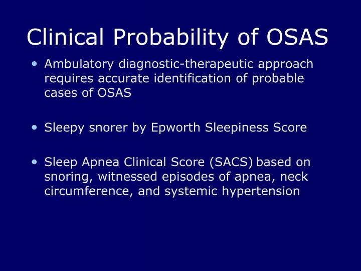 Clinical Probability of OSAS